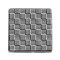 Black And White Basket Weave Memory Card Reader (Square 5 Slot)