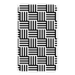 Black And White Basket Weave Memory Card Reader (Rectangular) Front
