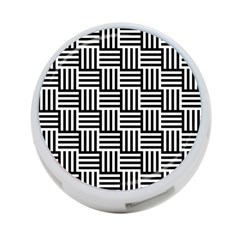 Black And White Basket Weave 4-Port USB Hub (Two Sides)