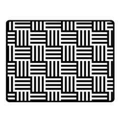 Black And White Basket Weave Fleece Blanket (small)