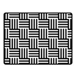 Black And White Basket Weave Fleece Blanket (Small) 50 x40  Blanket Front