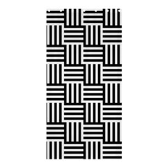 Black And White Basket Weave Shower Curtain 36  x 72  (Stall)