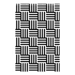Black And White Basket Weave Shower Curtain 48  x 72  (Small)  42.18 x64.8  Curtain