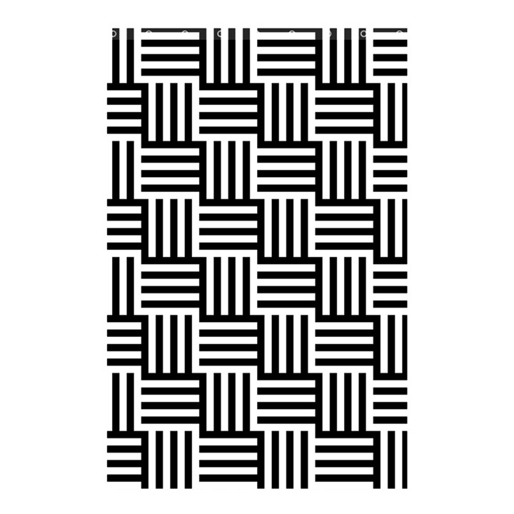 Black And White Basket Weave Shower Curtain 48  x 72  (Small)