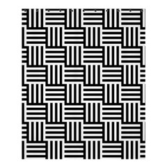 Black And White Basket Weave Shower Curtain 60  x 72  (Medium)