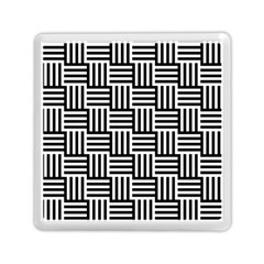 Black And White Basket Weave Memory Card Reader (Square)