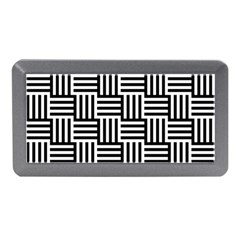 Black And White Basket Weave Memory Card Reader (Mini)