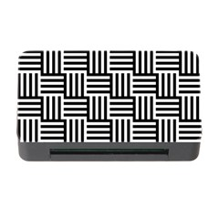 Black And White Basket Weave Memory Card Reader with CF