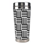 Black And White Basket Weave Stainless Steel Travel Tumblers Center