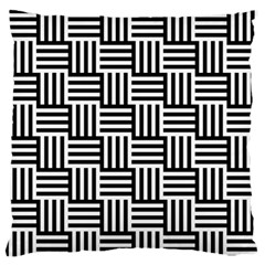 Black And White Basket Weave Standard Flano Cushion Case (Two Sides)