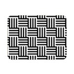 Black And White Basket Weave Double Sided Flano Blanket (Mini)  35 x27  Blanket Back