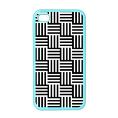 Black And White Basket Weave Apple iPhone 4 Case (Color)