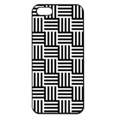 Black And White Basket Weave Apple iPhone 5 Seamless Case (Black)