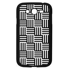 Black And White Basket Weave Samsung Galaxy Grand DUOS I9082 Case (Black)