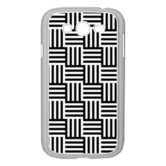 Black And White Basket Weave Samsung Galaxy Grand DUOS I9082 Case (White)