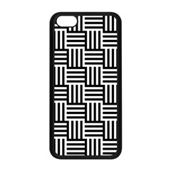 Black And White Basket Weave Apple iPhone 5C Seamless Case (Black)
