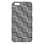 Black And White Basket Weave iPhone 6 Plus/6S Plus TPU Case Front