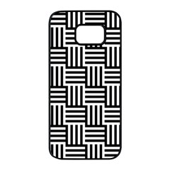 Black And White Basket Weave Samsung Galaxy S7 Edge Black Seamless Case