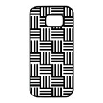 Black And White Basket Weave Samsung Galaxy S7 edge Black Seamless Case Front