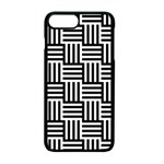 Black And White Basket Weave Apple iPhone 7 Plus Seamless Case (Black) Front