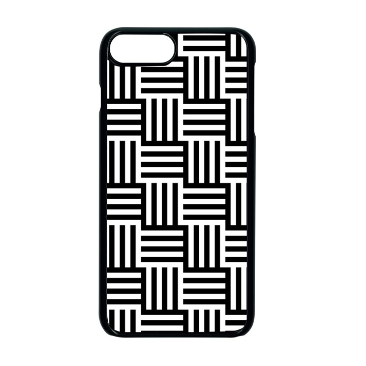 Black And White Basket Weave Apple iPhone 7 Plus Seamless Case (Black)