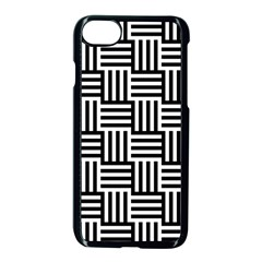 Black And White Basket Weave Apple iPhone 7 Seamless Case (Black)