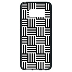 Black And White Basket Weave Samsung Galaxy S8 Black Seamless Case