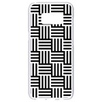 Black And White Basket Weave Samsung Galaxy S8 White Seamless Case Front
