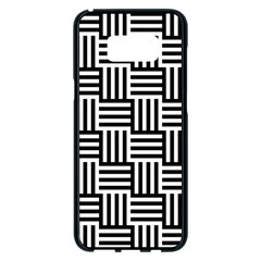 Black And White Basket Weave Samsung Galaxy S8 Plus Black Seamless Case