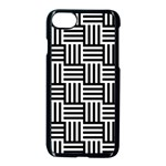 Black And White Basket Weave Apple iPhone 8 Seamless Case (Black) Front
