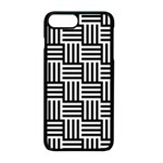 Black And White Basket Weave Apple iPhone 8 Plus Seamless Case (Black) Front