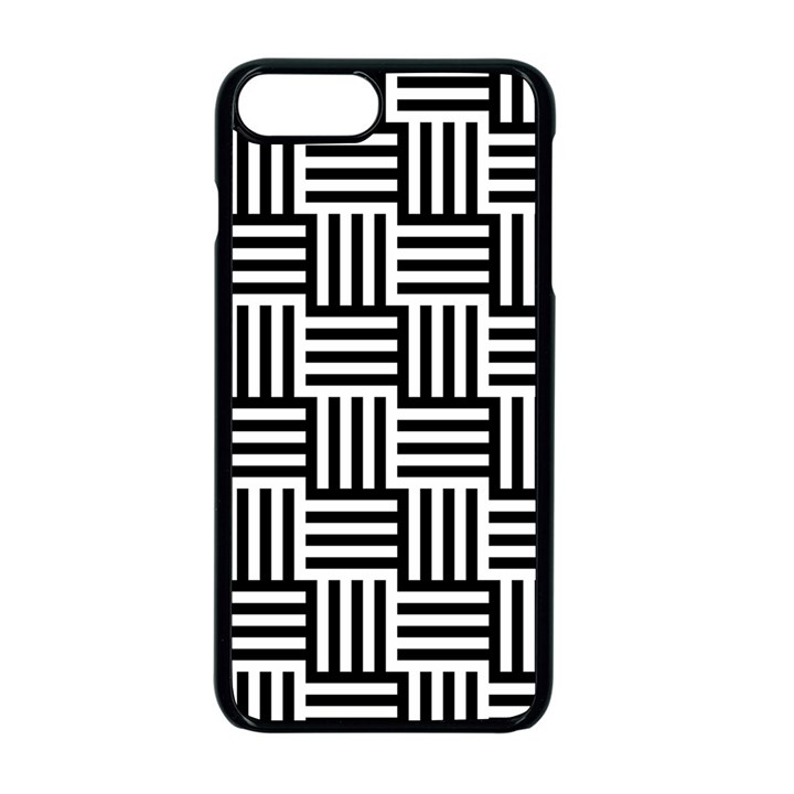 Black And White Basket Weave Apple iPhone 8 Plus Seamless Case (Black)
