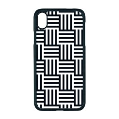 Black And White Basket Weave Apple iPhone XR Seamless Case (Black)