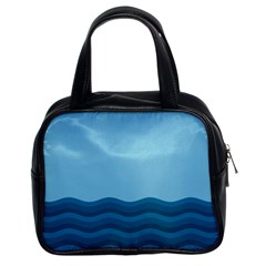 Making Waves Classic Handbag (two Sides) by WensdaiAmbrose
