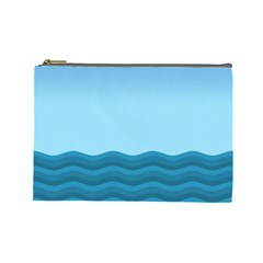 Making Waves Cosmetic Bag (large) by WensdaiAmbrose