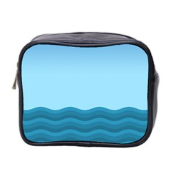 Making Waves Mini Toiletries Bag (two Sides) by WensdaiAddamns