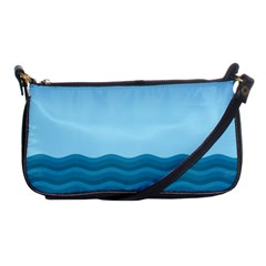 Making Waves Shoulder Clutch Bag by WensdaiAddamns