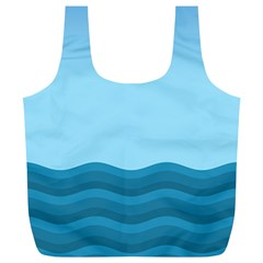 Making Waves Full Print Recycle Bag (xl) by WensdaiAmbrose