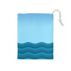 Making Waves Drawstring Pouch (medium) by WensdaiAmbrose