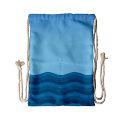 Making Waves Drawstring Bag (small) by WensdaiAddamns