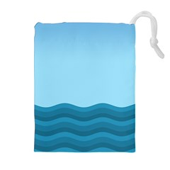 Making Waves Drawstring Pouch (xl)