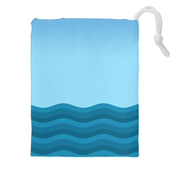 Making Waves Drawstring Pouch (xxl) by WensdaiAmbrose