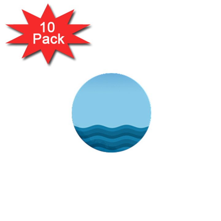Making Waves 1  Mini Buttons (10 pack)