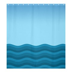 Making Waves Shower Curtain 66  X 72  (large)  by WensdaiAddamns