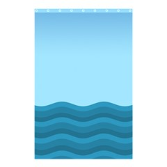 Making Waves Shower Curtain 48  X 72  (small)  by WensdaiAmbrose