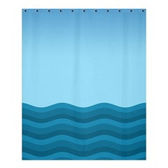 Making Waves Shower Curtain 60  X 72  (medium)  by WensdaiAmbrose