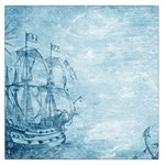 Sail Away - Vintage - Large Satin Scarf (Square) Front