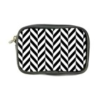Black And White Herringbone Coin Purse Front