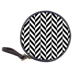 Black And White Herringbone Classic 20 Cd Wallets