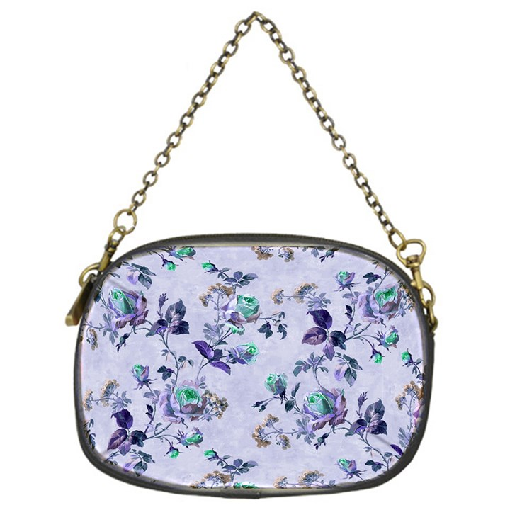 Vintage Roses Purple Chain Purse (One Side)